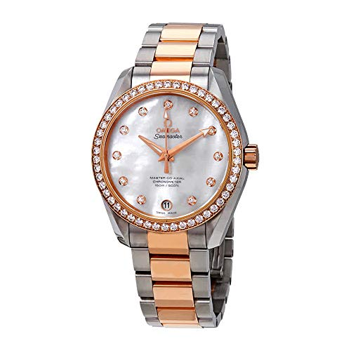 Omega Seamaster Aqua Terra Mother of Pearl Dial Stainless Steel Ladies Watch 23125392155001