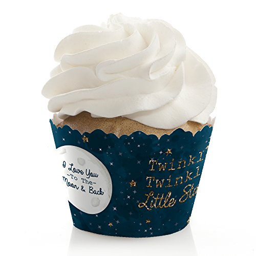 Twinkle Twinkle Little Star - Baby Shower or Birthday Party Decorations - Party Cupcake Wrappers - Set of 12