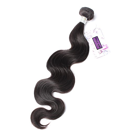 Body European Wave - Bella Hair Grade 6A Peruvian Virgin Hair Body Wave Weave 1 Bundles Human Hair Weave Bundles 100g 32inch Natural Black Color