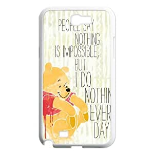 Lycase(TM) Winnie the Pooh quote Personalized Cover Case, Winnie the Pooh quote Samsung Galaxy Note 2 N7100 Case Cover