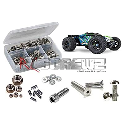 RCScrewZ Traxxas E-Revo VXL Brushless 1/10 Stainless Steel Screw Kit, Complete Replacement for RC Car Rusted and Stripped Screws, Quality Upgrade, Assembled in USA. tra082 for Traxxas Kit (86086-4): Toys & Games