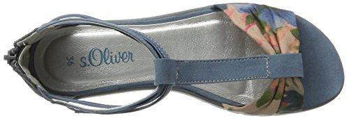 s.Oliver Mädchen 58218 T-Spange Blau (DENIM 802)