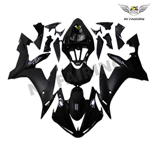 (NT FAIRING New Glossy Matte Black Injection Mold Fairing Fit for Yamaha 2004 2005 2006 YZF R1 R1000 YZF-R1 New Painted Kit ABS Plastic Motorcycle Bodywork Aftermarket)