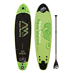 For fun on the water for beginners or seasoned paddlers, take along the Aqua Marina breeze inflatable stand up paddle board! this SUP board is rigid like a hard board, yet it is more portable, lightweight and much easier to store. Made from c...