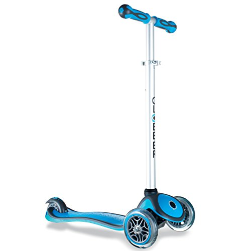 Globber 3 Wheel Adjustable Height Scooter Light Blue Gray