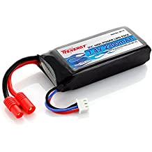 Tenergy 7.4V 2200mAh 30C LIPO Battery Pack w/ 3.5mm Banana Connector for Syma X8C X8W X8G