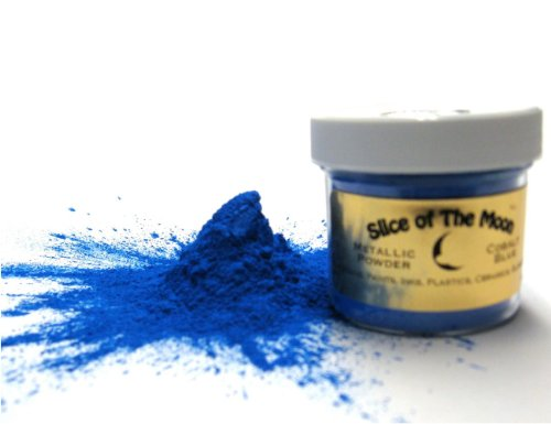 Cobalt Blue Mica Powder 1oz, Metallic Blue Powder, Cosmetic Mica, Slice of the Moon