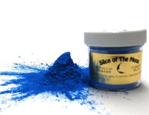 Blue Mica Powder, 1oz, Metallic Blue Powder, Cosmetic Grade Mica - Slice of the Moon