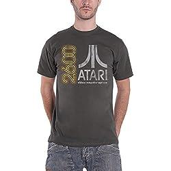 Atari T Shirt 2600 Retro Gaming Vintage Official Mens Grey