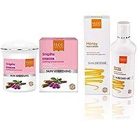 VLCC Snigdha Skin Whitening Night Cream, 50g and VLCC Honey Moisturiser, 100ml