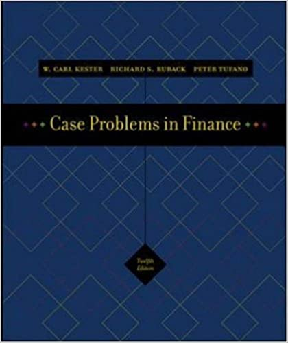 Case Problems In Finance Excel Templates CD ROM Irwin