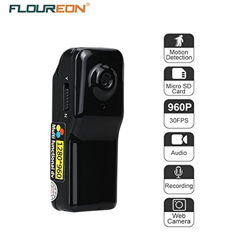 FLOUREON Mini Camera DV Sports Camcorder Camera Video Audio (Mini Spy Camcorder)
