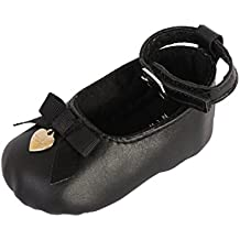 Nicole Miller New York Baby Girls Infant Leather Ballerina Crib Shoes in Gift Box