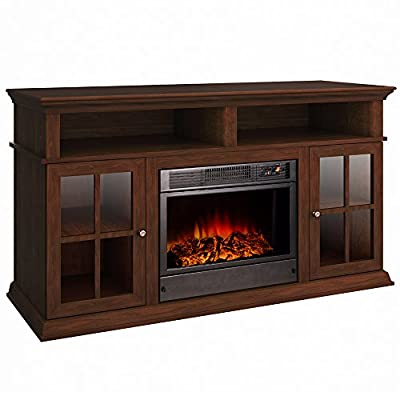 Argo Furniture Sparta Electric Fireplace, Walnut