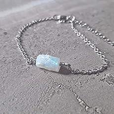 Labradorite and Moonstone Stainless Steel Leaf Hook Dangle Drop Earrings