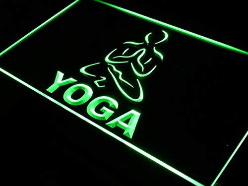 - ADVPRO Hot Yoga Fitness Center Open Training LED Neon Sign Green 24