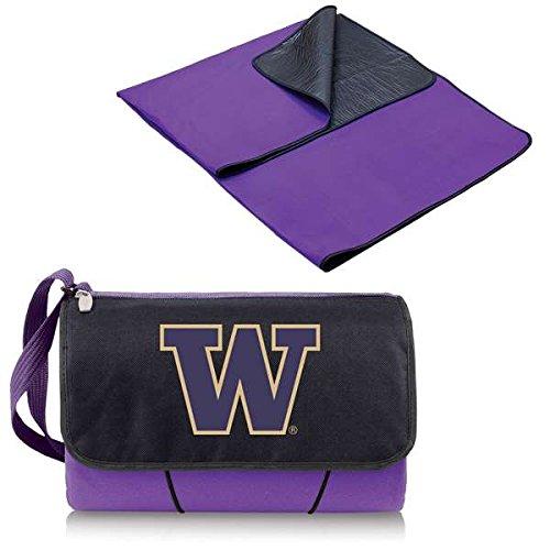 NCAA Washington Huskies Outdoor Picnic Blanket Tote, Purple ()