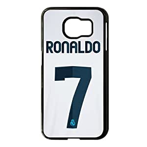 2015 Bestselling Ronaldo No.7 Phone Case for Sumsung S6 black