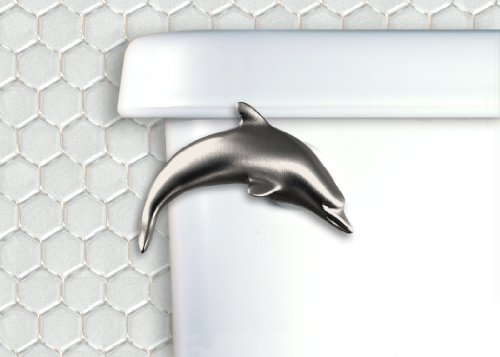 Functional Fine Art Dolphin Toilet Flush Handle-Front Mou...