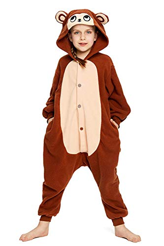 CANASOUR Kids Brown Monkey Plush One Piece