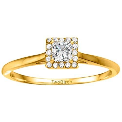 0.65 Ct Princess Diamond - 8