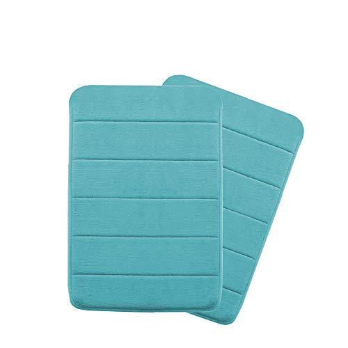 - Flamingo P Microfiber Memory Foam Fieldcrest Luxury Bath Rugs,Ultra Soft Floor Mats Tufted Bath Rug Non-Slip Backing Microfiber Door Mat Kitchen/Entryway 17