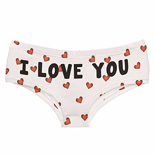 Emoji Love White Sexy Panites 2016 hot Sale 3D Print Women Underwear Lady Briefs