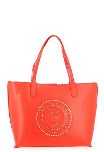 Versace Jeans Linea Q, Borsa a Spalla Donna, 14x28x33 cm Rosso