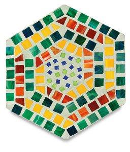 Jennifer's Mosaics Hexagon Outdoor Stepping Stone Mold, 16-Inch