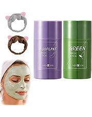 (محسّن 2021) قناع اخضر، قناع الطين الاخضر، غطاء الوجه المنقي من الطين للتنظيف العميق، وترطيب الوجه، وازالة الرؤوس السوداء وحب الشباب، غطاء وجه من الشاي الاخضر