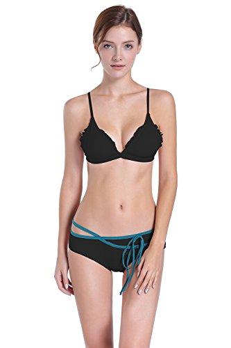 Green Arruffato Alte Da Donna black Costume Bikini Bagno l Sd76wZ7q
