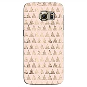 Cover It Up - Brown Light Pink Triangle Tile Galaxy S7 Hard Case