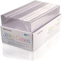 Memorex - 50/Pk Slim Cd/Dvd Clear Jewel Cases Product Category: Av Care/Storage Cases & Sleeves
