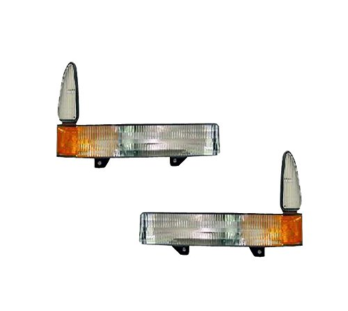 2001-2004 Ford Excursion & 2002-2004 F250 F350 & 2002-2003 F450 F550 F-Series Super Duty Pickup Truck Park Corner Light Turn Signal Marker Lamp Pair Set Left Driver AND Right Passenger Side (01 02 03 04)