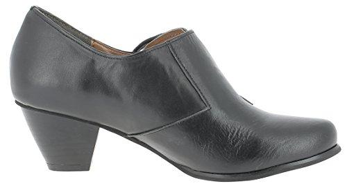 HIRSCHKOGEL Damen Pumps 1009422 Dirndlschuhe Trachtenschuhe Oktoberfest Ankle Boots Schwarz