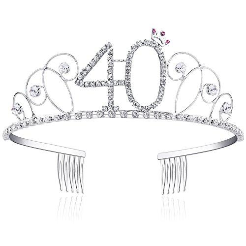 BABEYOND Crystal Tiara Birthday Crown Princess Crowns Hair ... b668836ca7e4