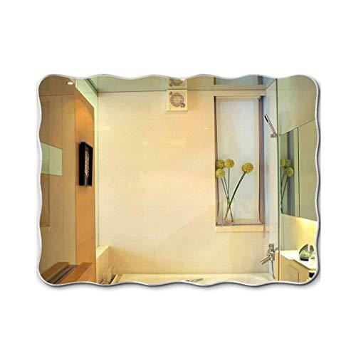 Bathroom Mirror,Wall-Mounted Washbasin Wall-Mounted Bathroom Mirror Frameless Vanity Mirror (Size : 5070cm) (Wall Mounted Washbasin)