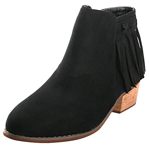 Used, Alexis Leroy Women's Tassels Mid Ankle Solid Heeled for sale  Delivered anywhere in Canada