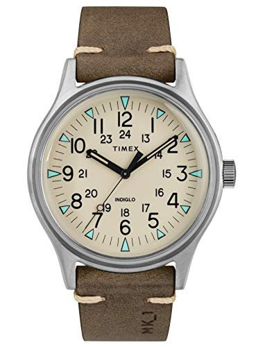 TIMEX Brown Leather Watch-TW2R96800