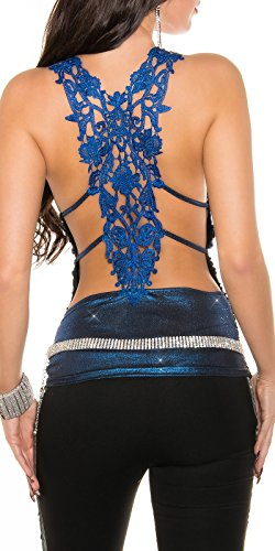 In-Stylefashion - Camiseta sin mangas - para mujer Azul