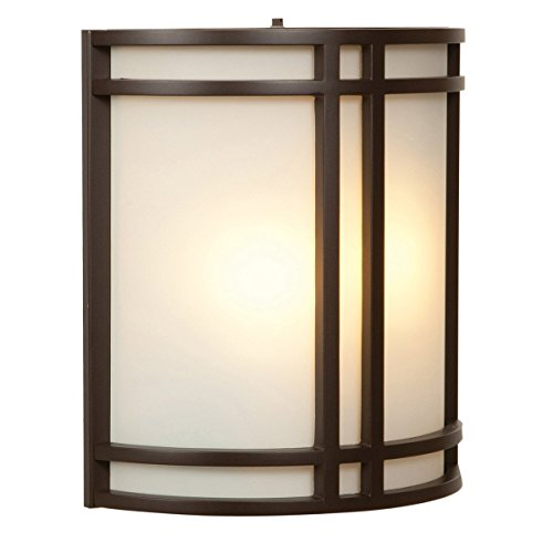 Wall Sconces 2 Light Fixtures with Bronze Finish Steel Material Self Type 10