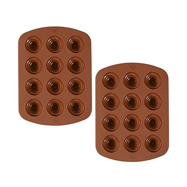 ROSANNA PANSINO by Wilton 12-Cavity Silicone Swirl Candy Molds, Multi-pack of 2 3