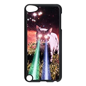 iPod 5 Case,Cool Space Cat Hard Snap-On Cover Case for iPod Touch 5, 5G (5th Generation)