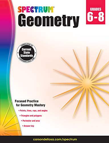 Carson-Dellosa Spectrum Geometry Workbook, Grades 6-8