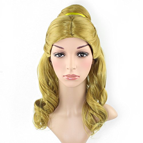 Orino Women Belle Wig for Beauty and the Beast Cosplay Costu