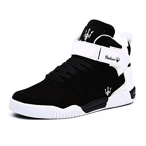 MUOU Uomo Sneaker Scarpe da Corsa Scarpe da Ginnastica Uomo Sportive Fitness Running Casual Nero Nero-0