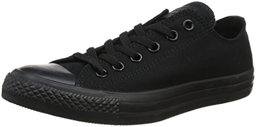 Converse Unisex Chuck Taylor All Star Low Top Black Monochrome Sneakers - 6 D(M) US