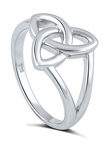 Sterling Silver High Polish Celtic Trinity Knot Ring - Trinity Celtic Ring