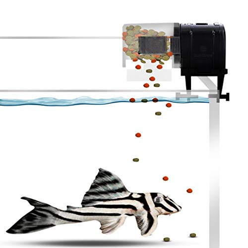SunGrow Pleco Fish Wafer Feeder, Automatic Food Release, Easy to Install on Fish Tank, Never Miss Feeding time