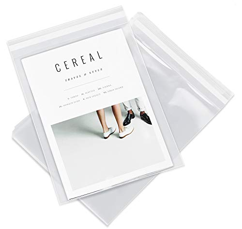 "11"" X 14"" (200 Pack) Clear Resealable Cellophane Cello Bags Self Seal - Fits 11X14 Prints Photos & Clothes Garments - Pack It Chic (More Sizes ()"